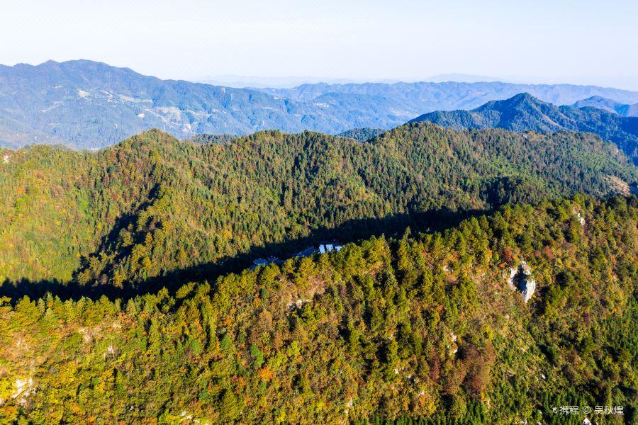 穿岩山国家森林公园旅游景点图片