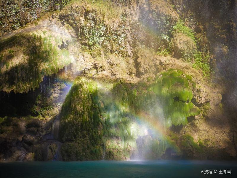 嘉华山瀑布旅游景点图片