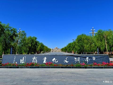 嘉峪关南湖景区的图片