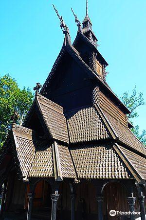 番托夫木板教堂旅游景点图片